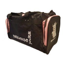 Geanta mare Taekwondo, negru-roz